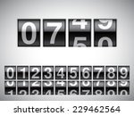 counter with all numbers. | Shutterstock .eps vector #229462564