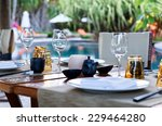 close up of table place... | Shutterstock . vector #229464280