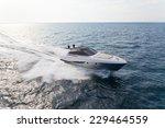 motor yacht  rio yacht  fast... | Shutterstock . vector #229464559