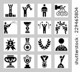 award and success vector icons... | Shutterstock .eps vector #229465804