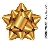 vector illustration of gold bow | Shutterstock .eps vector #229468954