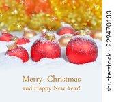 christmas decoration on... | Shutterstock . vector #229470133