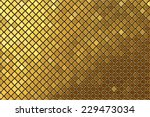 vector gold mosaic background | Shutterstock .eps vector #229473034