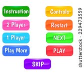 buttons for games. vector... | Shutterstock .eps vector #229473559