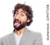 young crazy man | Shutterstock . vector #229477258