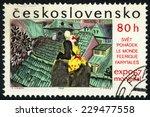 czechoslovakia   circa 1967 ... | Shutterstock . vector #229477558