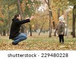 happy father toss up little... | Shutterstock . vector #229480228