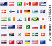 world flags collection. 36... | Shutterstock . vector #229483366