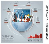 global medical and health... | Shutterstock .eps vector #229491604