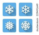 flat snowflake icons. vector...