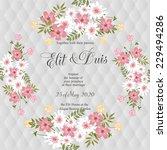 wedding invitation | Shutterstock .eps vector #229494286