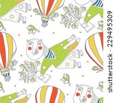 flying with balloons   Shutterstock .eps vector #229495309