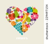Vector Color Fruits Icon. Food...