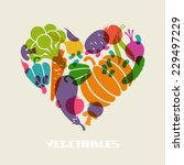 vector color vegetables icon.... | Shutterstock .eps vector #229497229