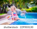 adorable little girl with curly ... | Shutterstock . vector #229503130