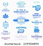 set of thanksgiving day labels. ... | Shutterstock .eps vector #229504894