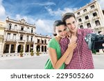 young  happy couple taking a... | Shutterstock . vector #229505260