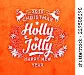 christmas typographic label for ... | Shutterstock .eps vector #229505398