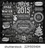 christmas decoration collection ... | Shutterstock .eps vector #229505404