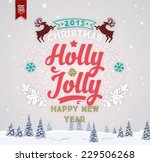 vintage christmas greeting card ... | Shutterstock .eps vector #229506268