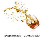Whiskey Splash With Drops