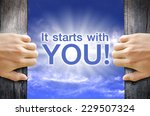 """""""it starts with you"""" text... 