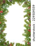 christmas background with snow  ... | Shutterstock . vector #229509559