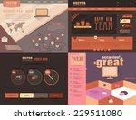 website design set vector flat... | Shutterstock .eps vector #229511080
