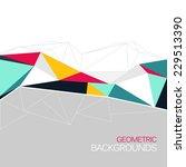 vector background  abstract... | Shutterstock .eps vector #229513390