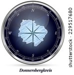 Map of Donnersbergkreis with borders in chrome