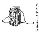 vector illustration of retro... | Shutterstock .eps vector #229518280