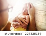 Cute Newborn Baby Girl Lying On ...