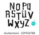 grunge uneven handwritten paint ...   Shutterstock .eps vector #229526788