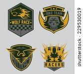 auto and moto racing emblem set ... | Shutterstock .eps vector #229530019