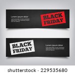set of abstract black friday... | Shutterstock .eps vector #229535680