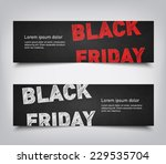 set of abstract black friday... | Shutterstock .eps vector #229535704