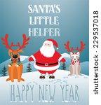 santa's little helper | Shutterstock .eps vector #229537018