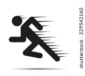 running people in motion.... | Shutterstock .eps vector #229542160