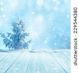 christmas winter background... | Shutterstock . vector #229544380