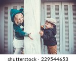 brother and sister outdoors in...   Shutterstock . vector #229544653