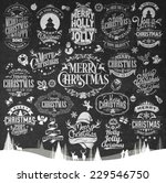 vintage merry christmas and... | Shutterstock .eps vector #229546750