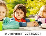 looking boy and girls with... | Shutterstock . vector #229562374