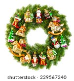 Christmas Wreath Decorated With ...
