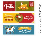 county fair vintage banners... | Shutterstock .eps vector #229582648
