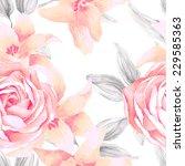 Watercolor Seamless Roses...