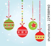 christmas ball  vector | Shutterstock .eps vector #229588960
