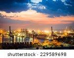 industrial container cargo... | Shutterstock . vector #229589698
