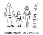people sketch | Shutterstock .eps vector #229590313