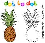 cartoon pineapple dot to dot.... | Shutterstock .eps vector #229591999