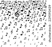 music notes background.  vector ... | Shutterstock .eps vector #229593439